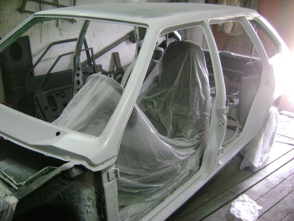 Подготовка машины к покраске своими руками 2109