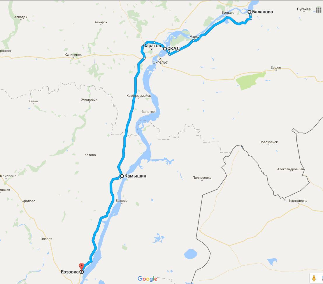 Карта трасса балаково пугачев фото