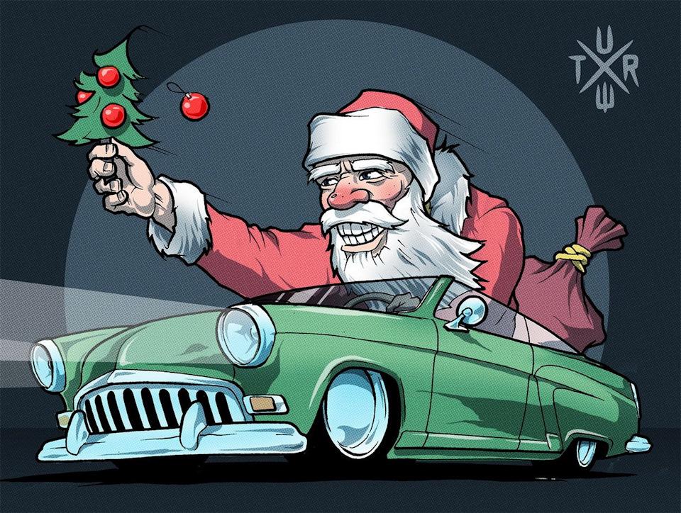 Органзы, открытки с новым годом автомобили