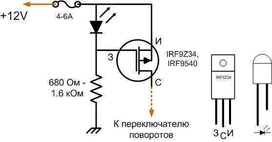 Светодиоды в повороты своими руками