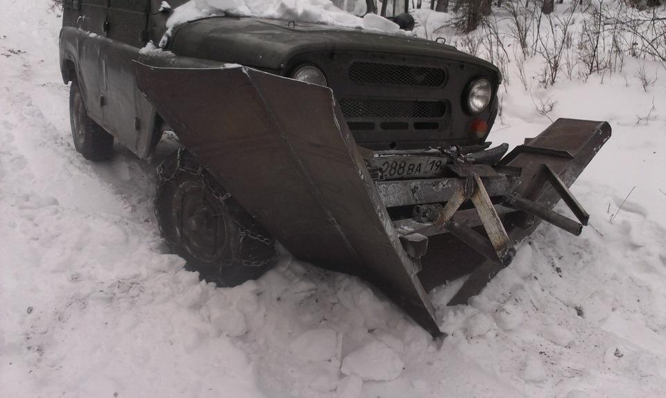 Снежный отвал для уаз патриот