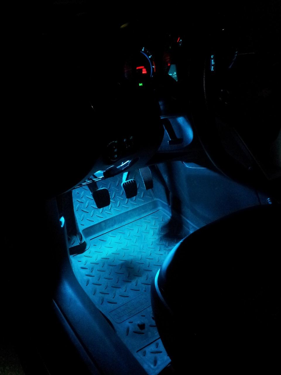 Подсветка ног шевроле круз