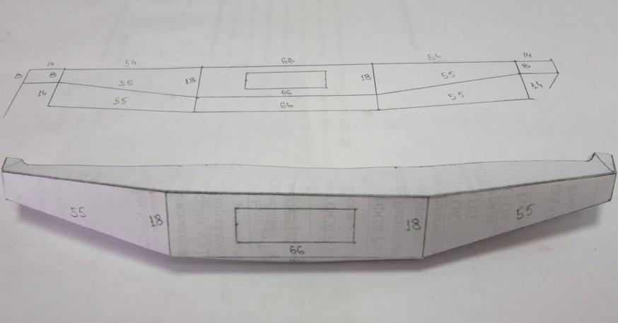 Чертеж бампера на уаз 469 своими руками чертежи фото