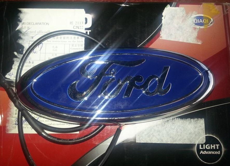 как поменять логотип ford