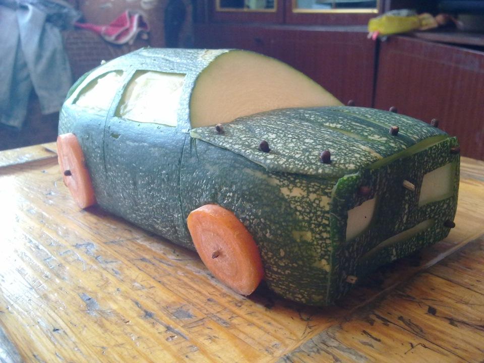 Машина из тыквы своими руками