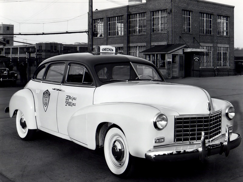 checker model a2 taxi cab 1948