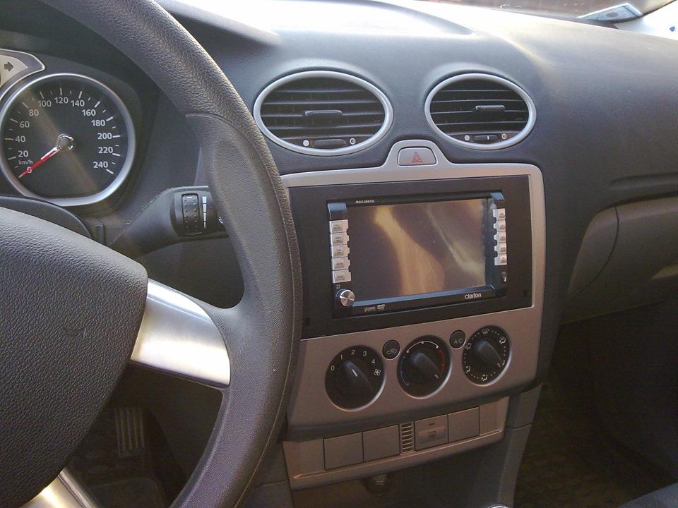 размер магнитолы ford focus 2