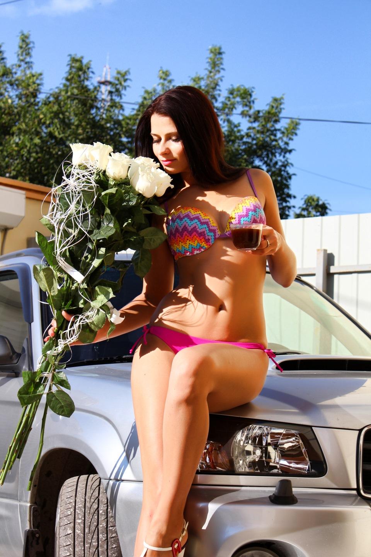 Секси на автомойке