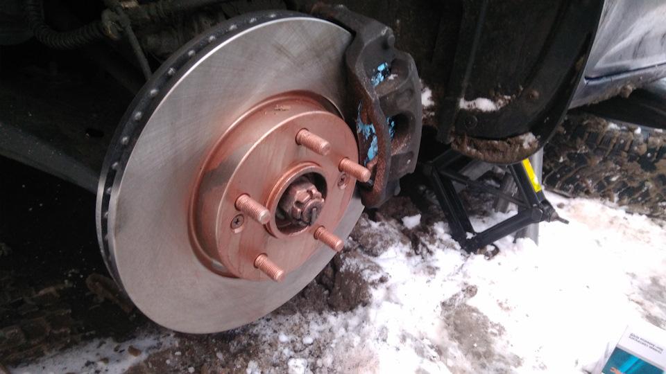 Замена передних тормозных дисков киа сид 2008