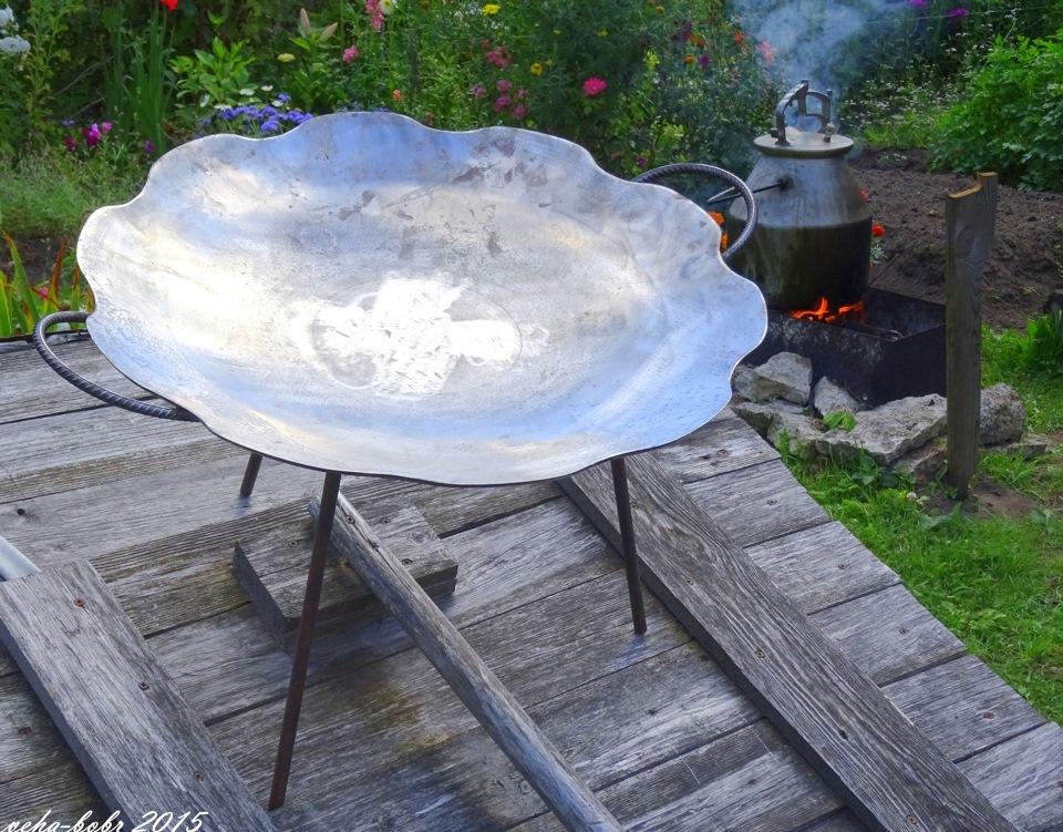 Как сделать сковороду из дисковой бороны своими руками