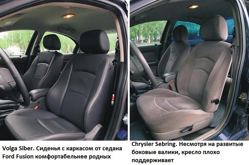 ГАЗ 3110-105 Волга - чехлы на сиденья из экокожи