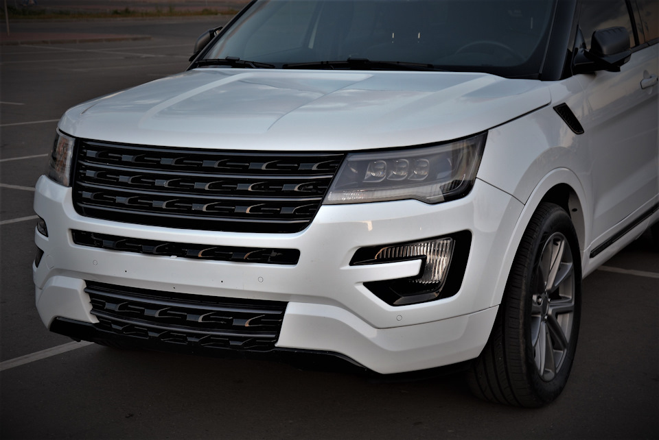 Ford Explorer Sport >> full led headlights and front grille Ford Explorer 17 ...