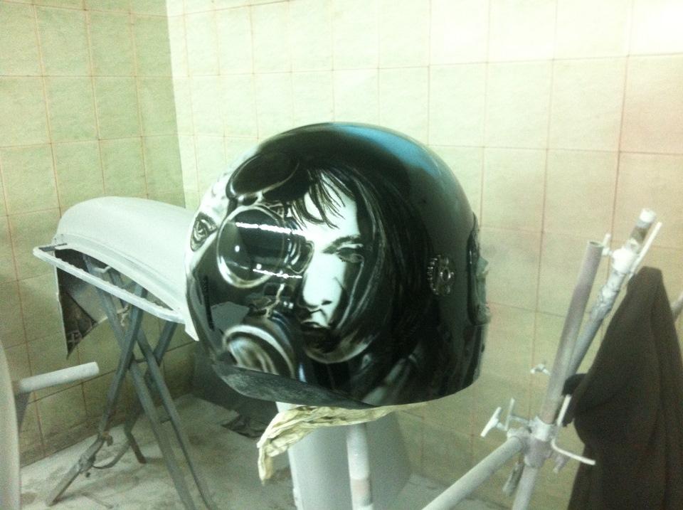 Гармонист деревне, прикольные рисунки на шлеме