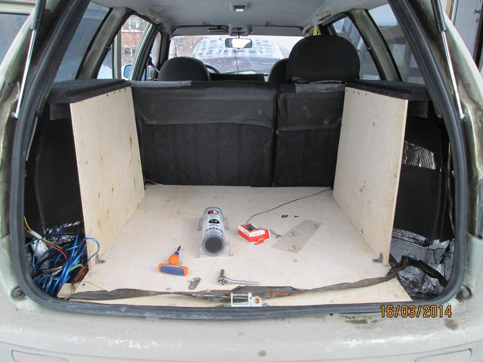 Переделка в багажнике ваз 2111 своими руками 1