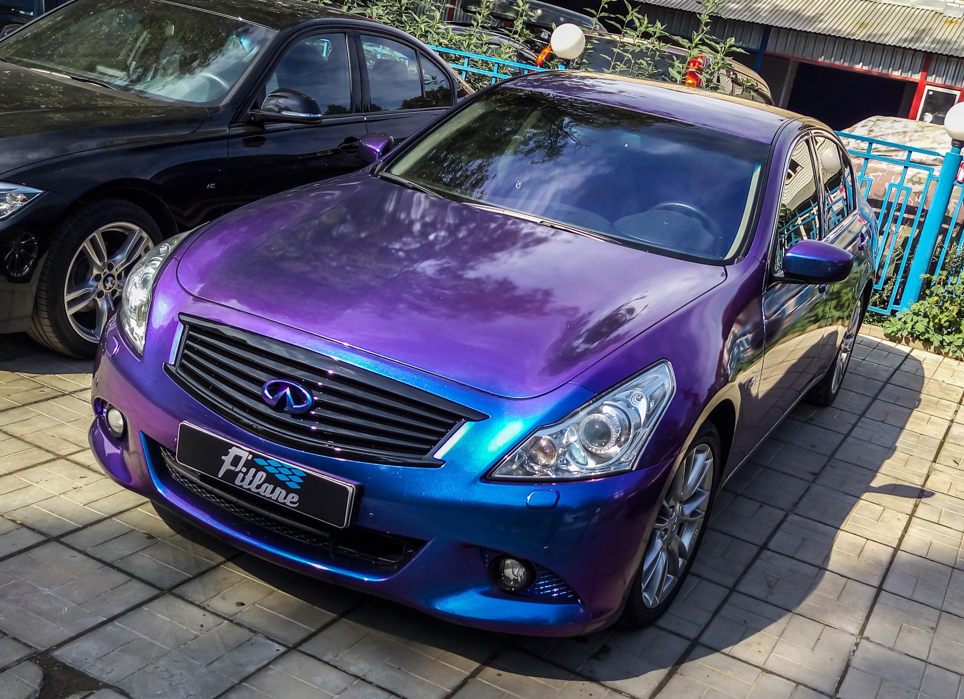 Синий хамелеон цвет машины