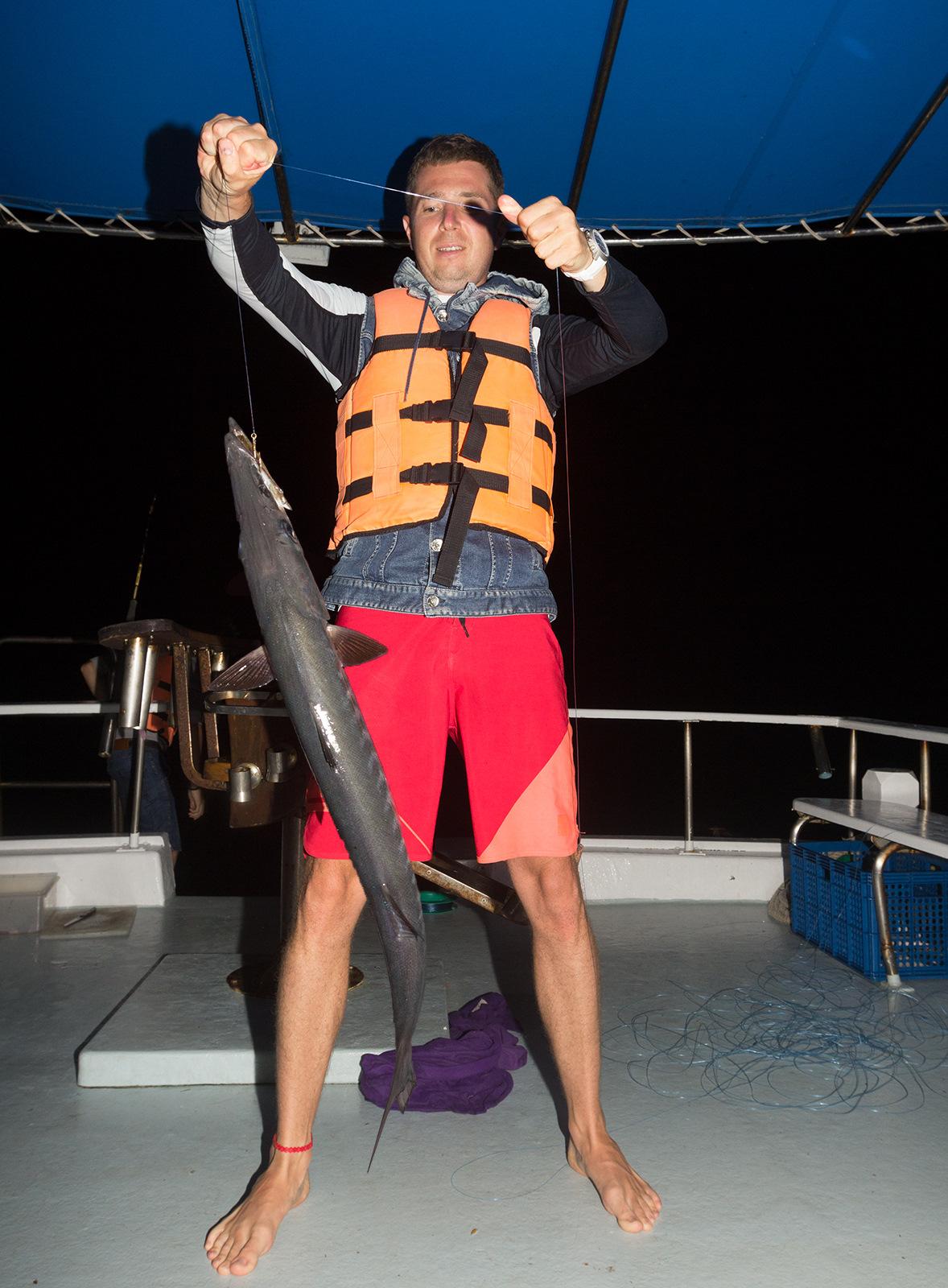 Экскурсия ночная морская рыбалка на специальном катере
