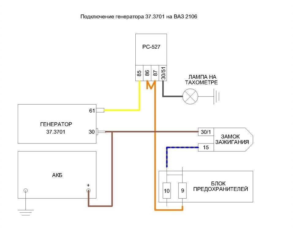 Контрольная лампа зарядки аккумулятора бортжурнал Лада 2107 Сделано в