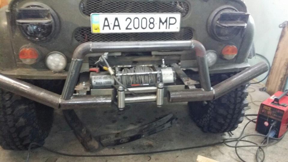 Чертежи бампера на уаз из труб 123