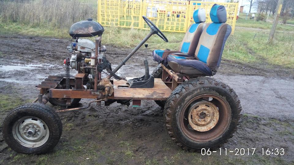 Самодельный трактор с двигателем москвич фото
