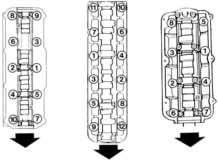порядок протяжки головки блока цилиндров audi 100 2.3 aar