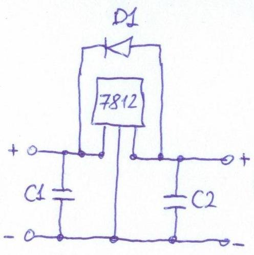 На схеме: вход (9-24 В)