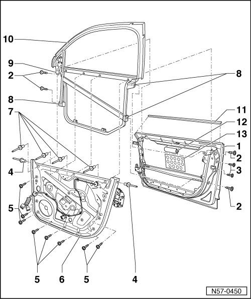 Детали рамы стекла — схема