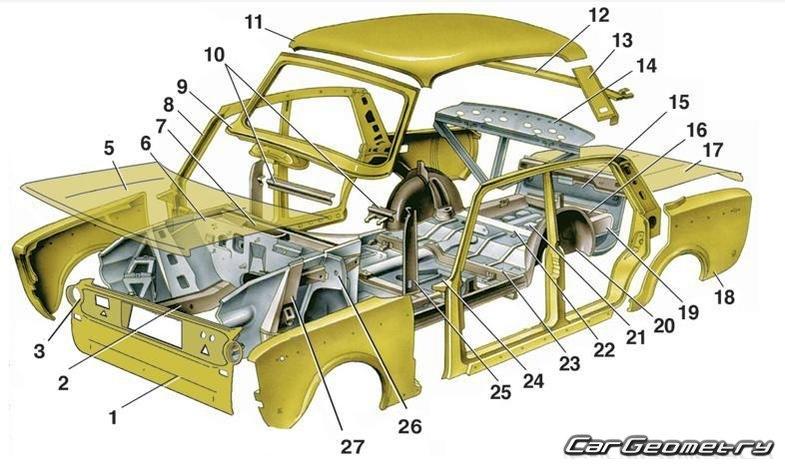 Кузовные детали ВАЗ 21 10