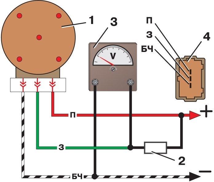 схема проверки датчика холла