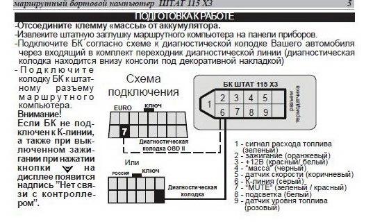 маршрутного компьютера