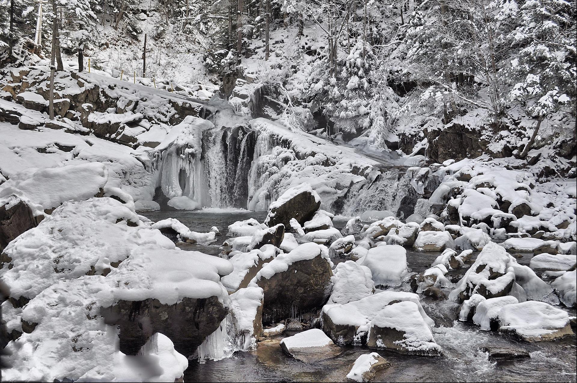 "Результат пошуку зображень за запитом водопад каменка зима"""