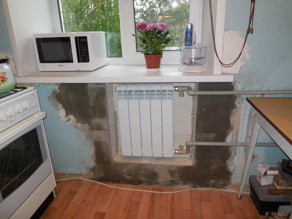 Как сделать холодильник под окном в хрущевке.