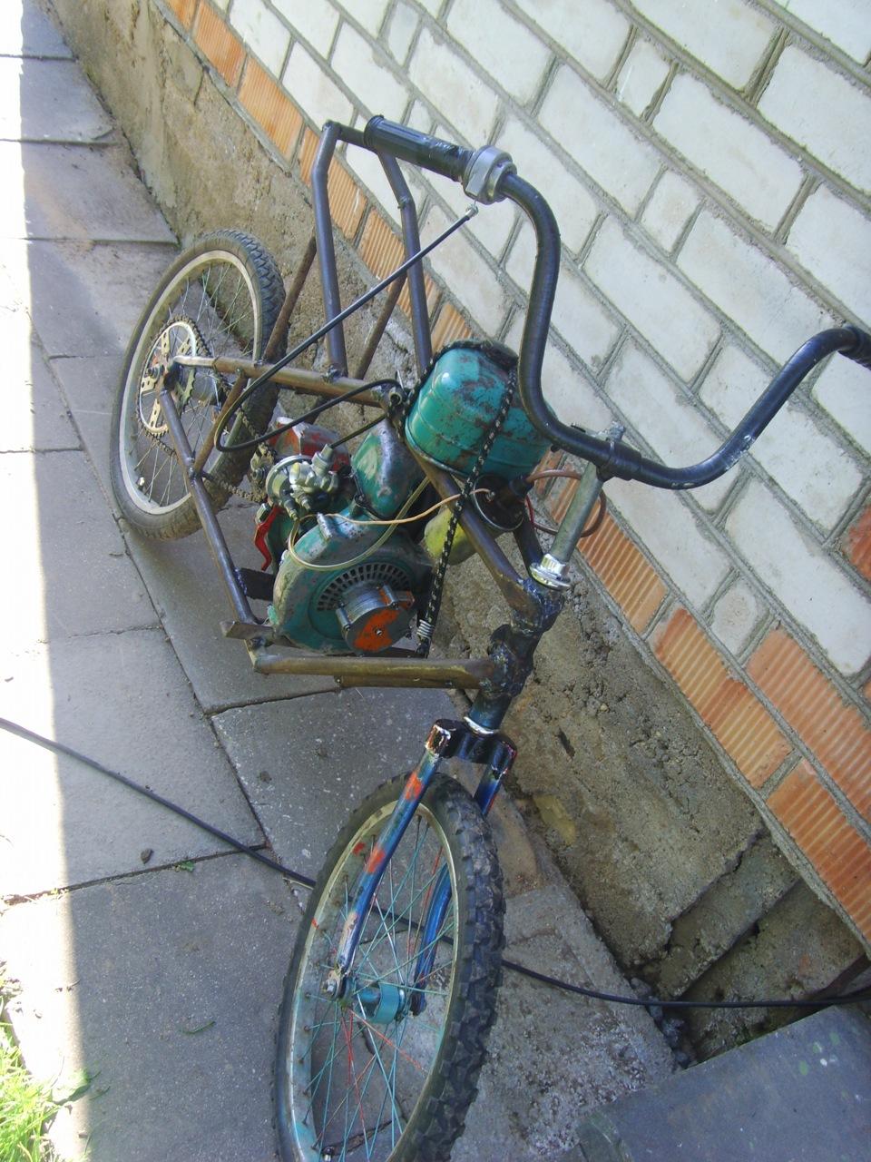 Как сделать велосипед с мотором своими руками: самодельный 8