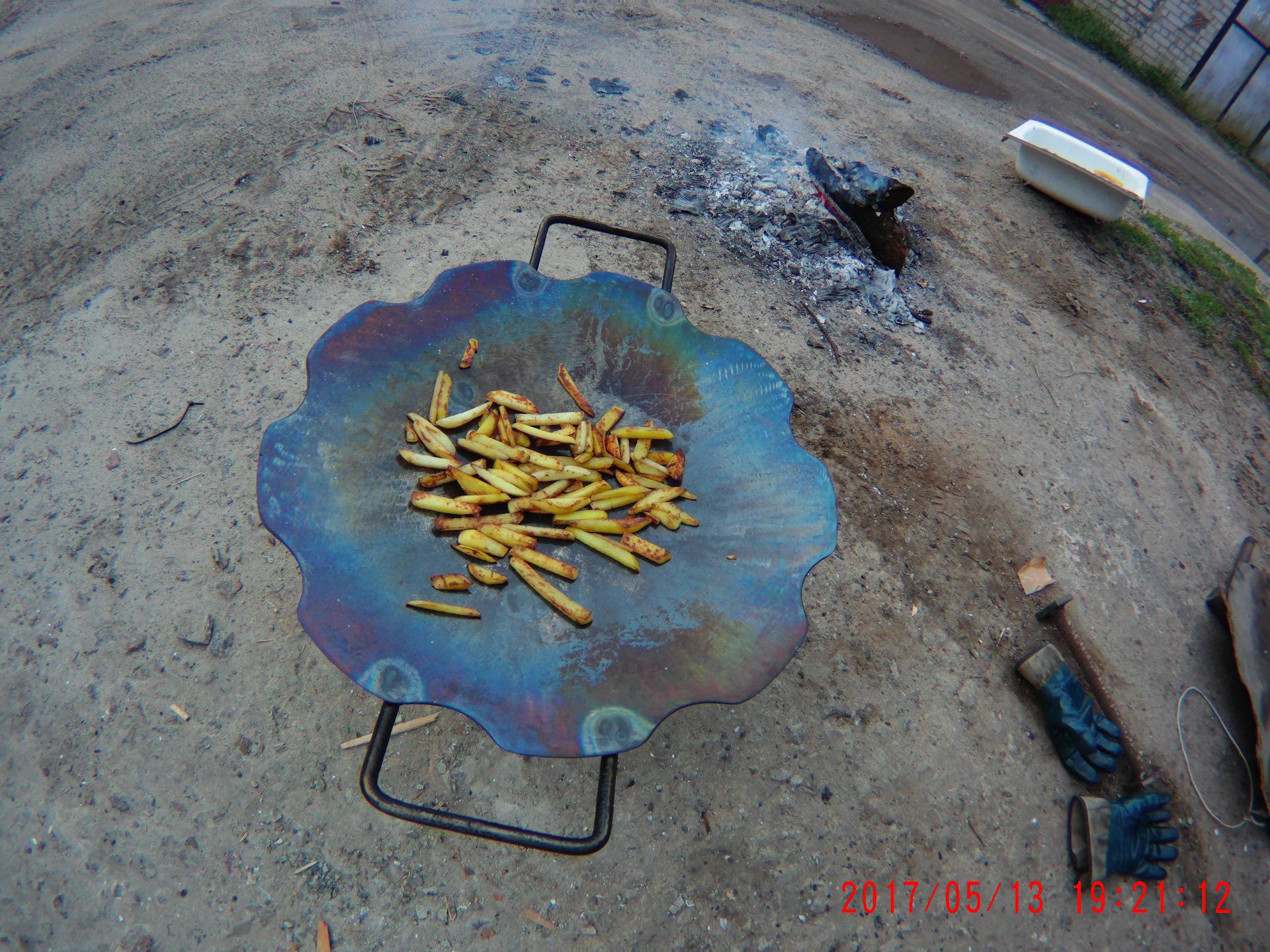 Как сделать сковороду из бороны