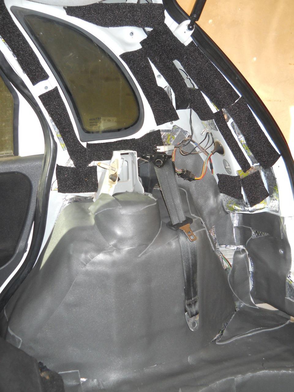 Капитальная шумоизоляция багажника Лада Калина Хэтчбек - logbook Lada Kalina hatchback ''Black and White'' 2011 on DRIVE2