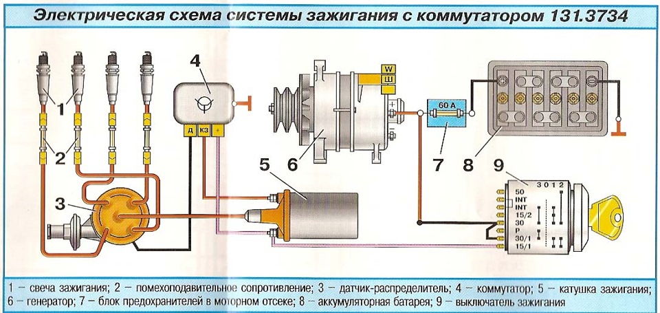 Фото схема подключение электронного зажигания 44