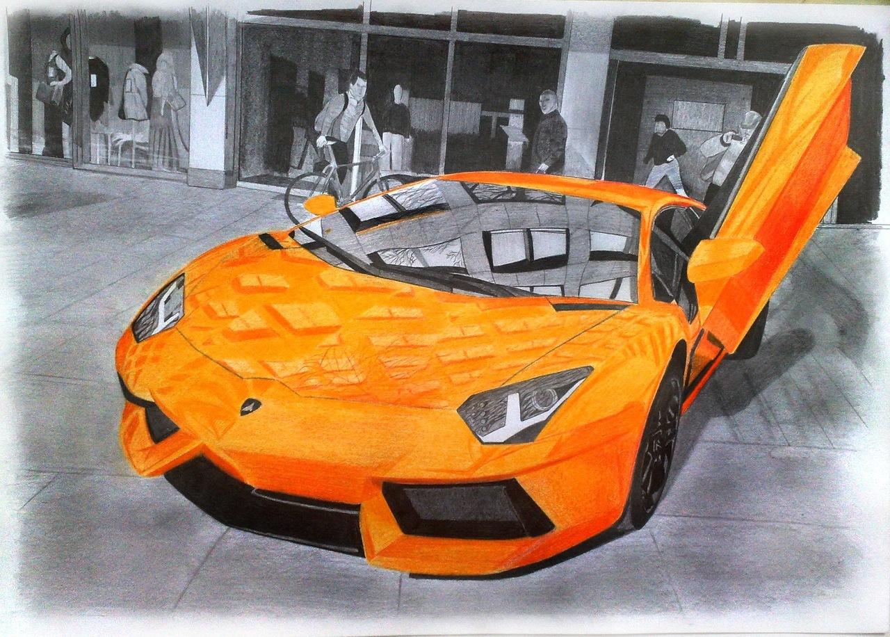 Картинки для срисовки машины ламборджини