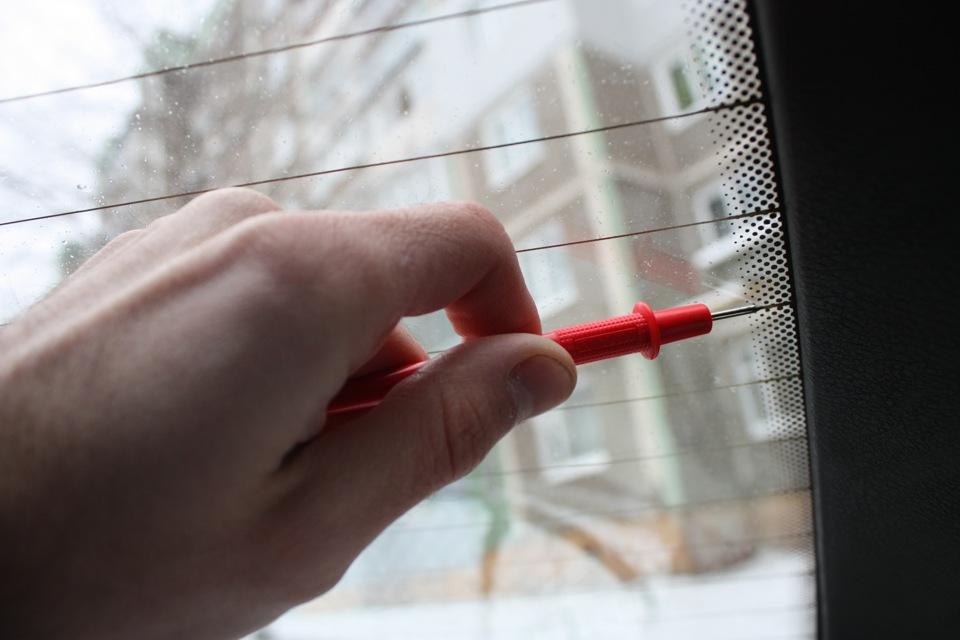 Ремонт нитей заднего стекла своими руками
