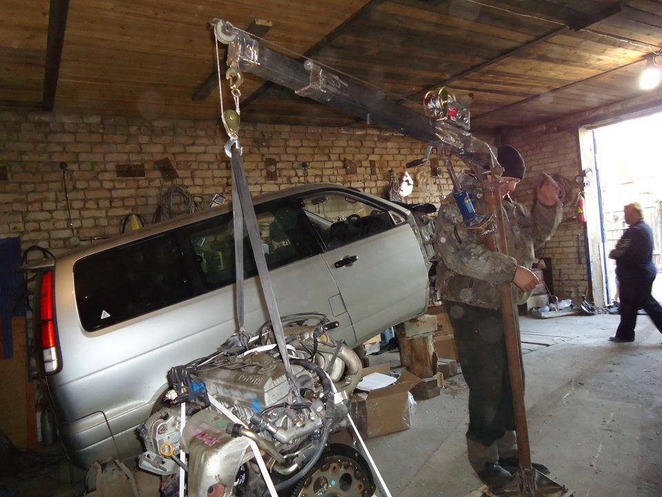 Кран для гаража своими руками чертежи 103