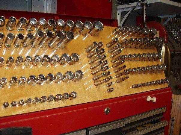 Хранение гаечных ключей в гараже своими руками 21