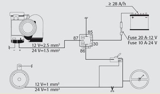 Схема подключения сигнала