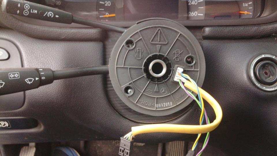 не работает датчик положения руля на мерседесе w210