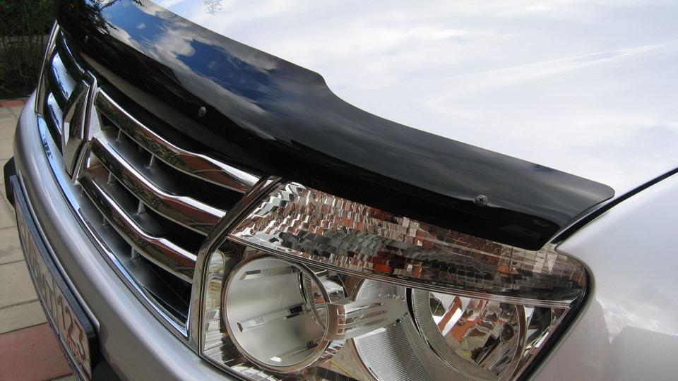 дефлектор капота ас renault duster 2011- фото