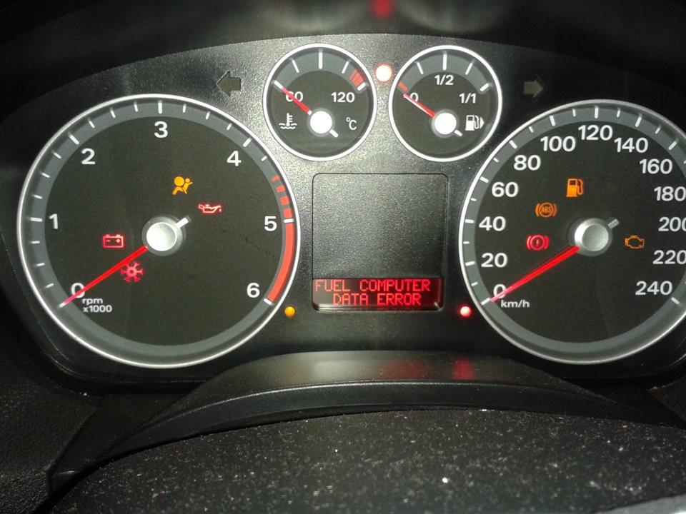 ford focus неисправность системы двигателя 1.6