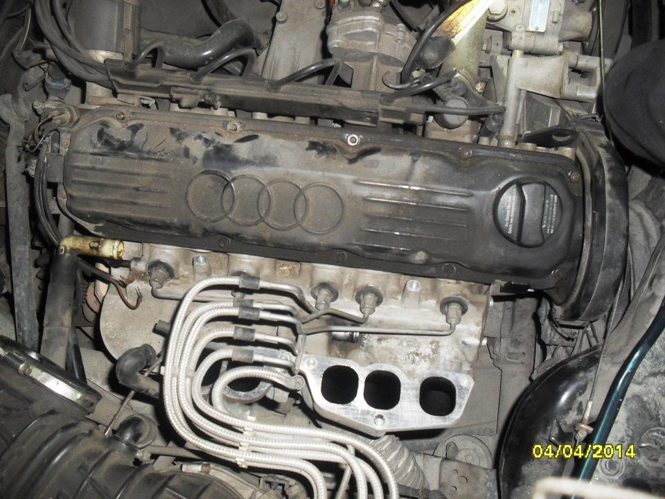 замена прокладки головки блока цилиндров на двигателе aar audi 100