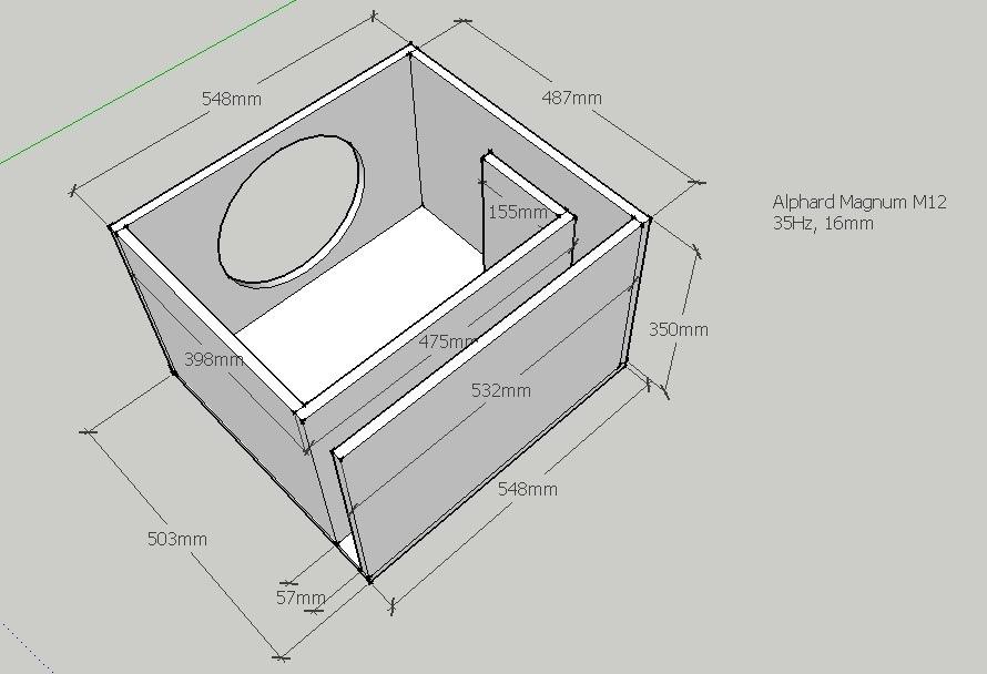 Короб для сабвуфера своими руками: чертежи, схемы, фото и 826
