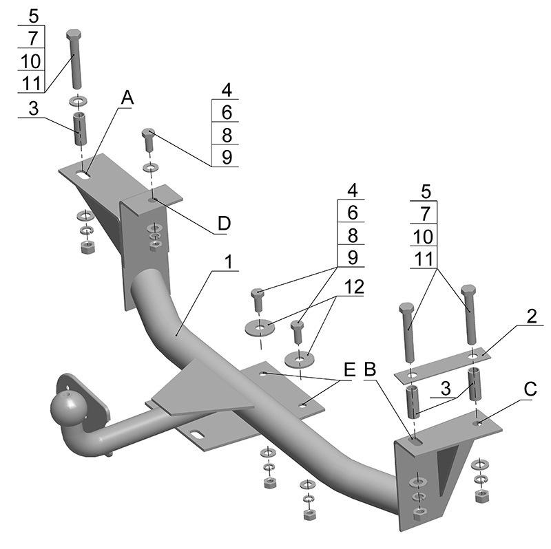 Фаркоп схема на приора