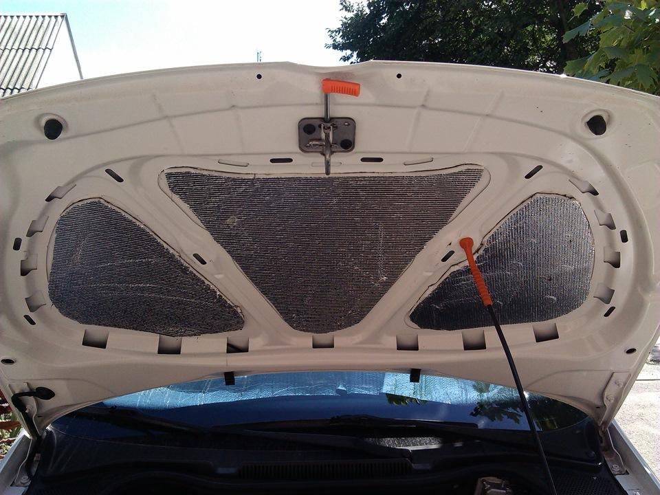 шумоизоляция под капот на фольксваген поло седан