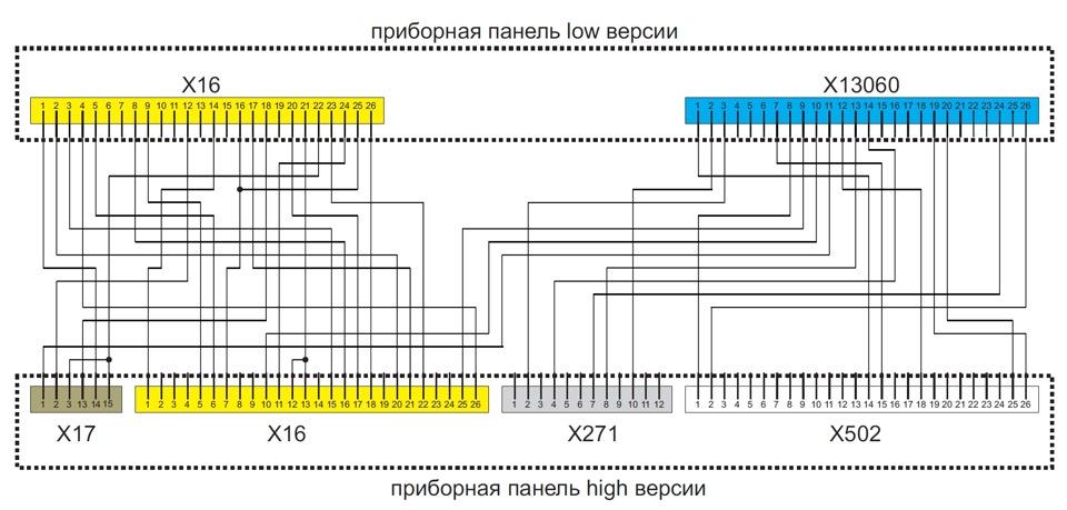 Схема замены LOW версии на