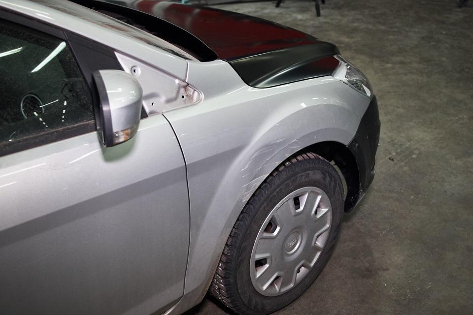 Промежуточная сборка Ford Focus.Установка и подгонка наружных кузовных элементов.