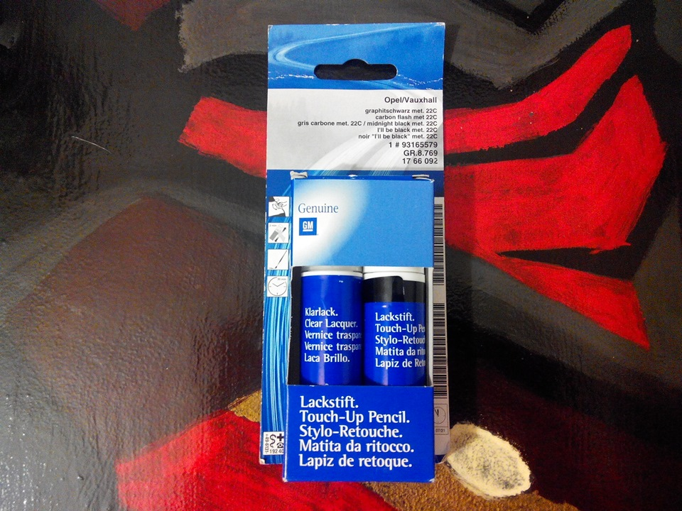 карандаш для подкраски сколов chevrolet cruze черный